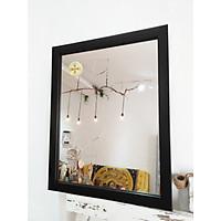 Gương soi khung viền màu đen KT 40x50 cm [KIBATH-Đen trơn 3P]