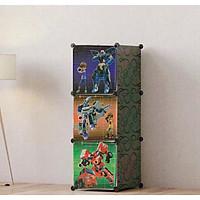 Tủ nhựa lắp ghép cửa robot cho bé trai