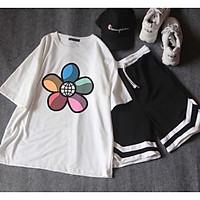 Sét áo hoa năm cánh +quần V T&T