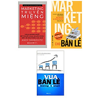Combo 3 cuốn sách :  Marketing Cho Bán Lẻ + Vua Bán Lẻ + Marketing Truyền Miệng (Tặng kèm Bookmark thiết kế AHA/ Bộ Sách Để Thống Lĩnh Thị Trường Cho Những Nhà Bán Lẻ)