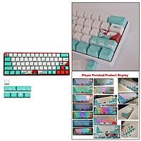 Coral Sea Ukiyo-e Keycaps PBT Dye Sublimation 71 Key Full Set for GK61 GK64 RK61