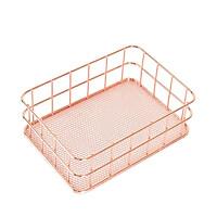 Modern Iron Storage Basket Stationery Holder Display Desk Organizer Circular