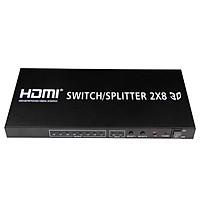 Bộ chia HDMI SWITCH SPLITTER 2 vào 8 ra PCM-208 - Hàng Nhập Khẩu
