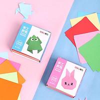 Combo 100 giấy thủ công cho bé Deli - 65x65mm - Giấy gấp hạc, origami Nhật Bản, hoa, giấy gấp hạc - Nhiều màu - 74813