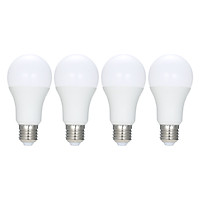 4PCS Smart WIFI LED Bulb RGB+C+W Smart Light Bulb AC110-120V 9W E26 Dimmable Light Tuya Smart Life APP Remote Control