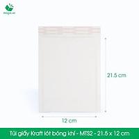 MTS2 - 21,5 x 12 cm - 25 Túi giấy Kraft bọc xốp hơi thay hộp carton