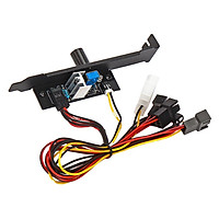 3-pin PC 12V PCI Cover Fan Control For Computers, Input Voltage 3.7 V-12 V (adjustable)