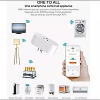 Ổ cắm Wifi Smart Life US 16A, đo điện tiêu thụ. Work with Google & Alexa