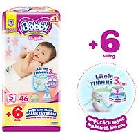 Tã quần Bobby mới S46 - Lõi nén thần kì 3mm - Siêu mỏng khô thoáng bất ngờ - Tặng thêm 6 miếng