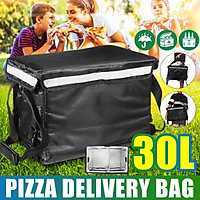 30L Refrigerated Bag Large Capacity Heat Preservation Pizza Bag Waterproof Delivery Box Portable Heat Preservation Bag Fresh Food For Picnic