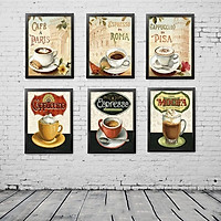 Bộ 6 Khung ảnh Treo Tường quán Cafe KA604