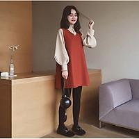 Áo bầu chất dạ thời trang Hàn Quốc