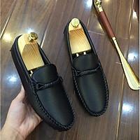 Giày Lười Da Nam Phối Đai Lịch Lãm