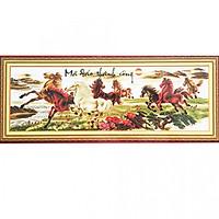 Tranh thêu Mã Đáo Thành Công (150 x 54 cm)