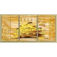 Tranh Treo Tường Hiện Đại Phòng Khách - Kim Tiền T3M--1833