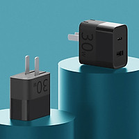 MI HA722 USB Travel Charger / USB Wall Adapter 30W USB-C Charger 1A1C PD3.0 QC3.0 Type-C 100-240V with Cable
