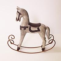 Mô Hình Ngựa Gỗ Bập Bênh Vintage