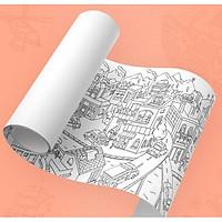 Cuộn Giấy Tô Màu Khổng Lồ - Chủ đề Thành Phố