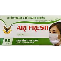 Khẩu trang y tế cao cấp 4 lớp kháng khuẩn chống thấm  Ari Fresh (hộp 50 cái)