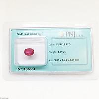 Viên ruby oval mài giác làm nhẫn mặt dây 3.09ct 136861