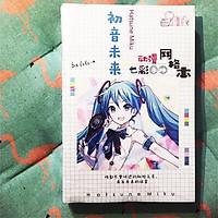 Vở anime Hatsune Miku in hình đẹp tặng kèm ảnh thiết kế Vcone