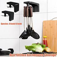 360 Degrees Rotated Kitchen Hooks Rotating Shelf Holder Nail Free Shelf Hanger Hanging Storage Rack