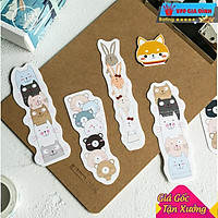Hộp 30 Đánh Dấu Sách Bookmark Thú Cưng Siêu Cute Dễ Thương