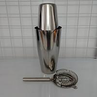 Combo shaker inox 2 mảnh Cocktail Boston và dụng cụ chặn đá inox