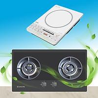 Mua bếp gas âm Sakura SG-2668GB tặng Bếp từ Kiwa KI-122GW - Hàng chính hãng