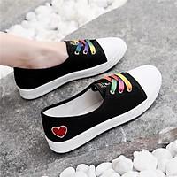 Giày Lười Nữ Kiểu Dáng Thể Thao , Slip On Bata Sneaker Hàn Quốc Cho Bạn Nữ Thích Tối Giản mẫu mới Hot trend 2021