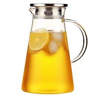 Bình thủy tinh chịu nhiệt có lõi lọc trà 1.8 L cao cấp