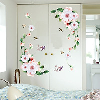 Decal dán tủ dán tường dán cửa kính hoa sang trọng