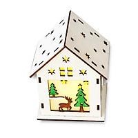Mô Hình Lắp Ráp Trang Trí Giáng Sinh Có Đèn Led Hình Ngôi Nhà 12x7.5x9 cm