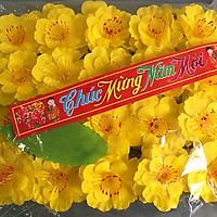Hoa Mai Giả Trang Trí Tết - Bịch 40 hoa mai giả kèm lá kẽm trang trí tết