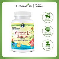 Viên Nhai Hương Trái Cây Cho Trẻ Em Bổ Sung Vitamin D3 400IU Giúp Xương Chắc Khỏe, Sức Khỏe Dẻo Dai - 60 Viên