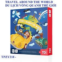 Trò chơi board game DU LỊCH VÒNG QUANH THẾ GIỚI chính hãng TOI Travel Around The World TPZY218