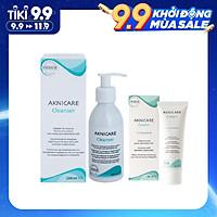 Bộ sản phẩm cho da mụn ẩn, đầu đen, ngăn ngừa mụn, cấp ẩm Aknicare (Sữa rữa mặt + Cream)