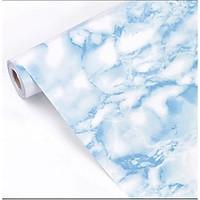 Giấy dán tường đá hoa cương xanh có keo sẵn khổ rộng 45cm, decal giấy dán tường vân đá hoa cương sang trọng