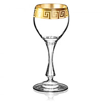 Bộ 6 ly rượu mạnh mạ vàng 24k Versace 065 ml Tiệp Khắc
