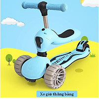 Xe scooter 2in1 Triple One Way (Blue)