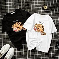 Áo thun Nam Nữ Không cổ QUỲNH AKA I'M HỔ CIMT-0037 mẫu mới cực đẹp, có size bé cho trẻ em / áo thun Anime Manga Unisex Nam Nữ, áo phông thiết kế cổ tròn basic cộc tay thoáng mát