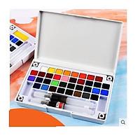 Màu nước dạng nén cao cấp G3600A set 36 màu solid watercolor đi kèm 2 cây cọ nước dành cho vẽ tranh