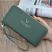 Bóp ví dài nữ cầm tay kiểu dáng Hàn Quốc nhiều ngăn đựng tiền thẻ điện thoại có ngăn kéo ví da PU cao cấp MSP Y-1003