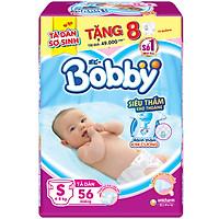 Tã dán Bobby Sơ Sinh Siêu Mỏng Thấm Gói Đại S56(56 Miếng)