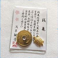 Vật may mắn kim quy tài lộc và 5 yên Nhật
