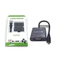 Cáp chuyển đổi Micro HDMI sang Vga Kingmaster KY H123B-HÀNG CHÍNH HÃNG