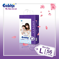 Bỉm dán GOLDGI+ Size L 56 miếng (cho trẻ từ 9-14kg)