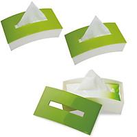 Bộ 3 hộp đựng giấy ăn bằng nhựa màu xanh lá - Hàng nội địa Nhật