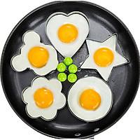 Bộ 5 Khuôn Inox Tạo Hình Chiên Rán Trứng