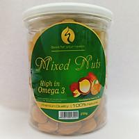 Combo Mixed Nuts 4 loại hạt dinh dưỡng tách vỏ 250g (Hạt óc chó VÀNG ,hạnh nhân ,macca , Hạt Điều)